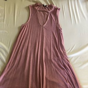 Soft Mauve T-shirt Dress